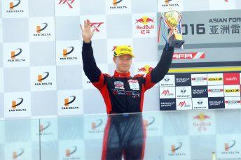 Burdon racing towards the Asian Formula Renault crown.