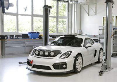 Porsche runs Cayman GT4 Clubsport as WRC course car